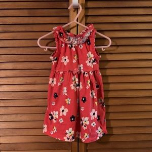 Carters Pink Floral Dress